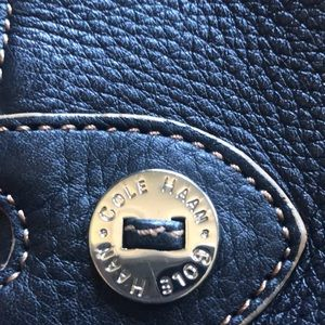 Cole Haan Bags - Cole-Haan Black Pebbled Leather Purse
